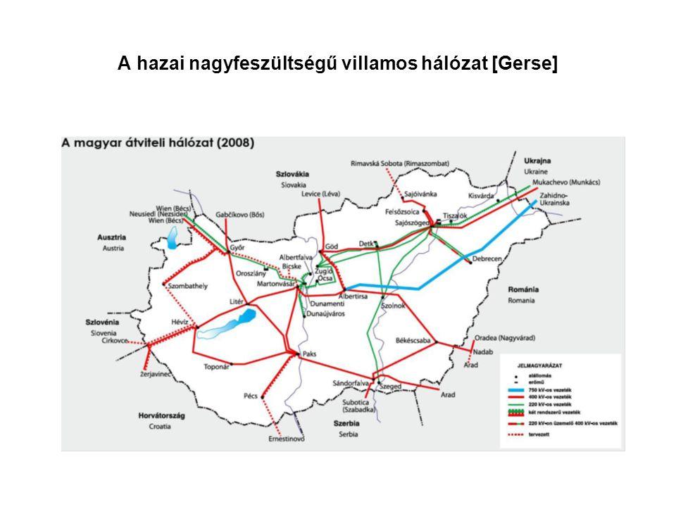 A hazai nagyfeszültségű villamos hálózat [Gerse]
